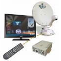 ANTENNE FLAT SAT ELEGANCE SMART 65 + TV 19 + SKEW