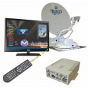 ANTENNE FLAT SAT ELEGANCE SMART 65 + TV 19 + TWIN