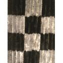 CHENILLE DAMIER 60 X 185 NOIR ET GRIS