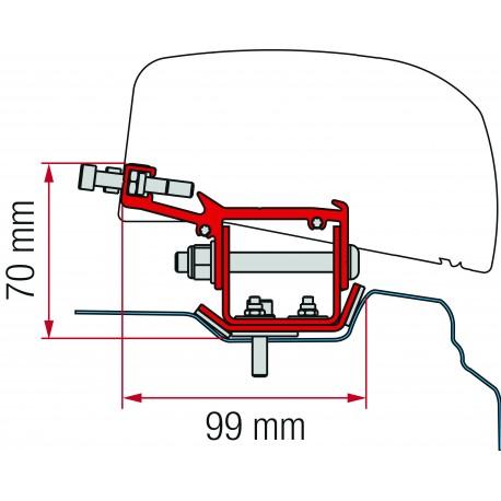 KIT RENAULT TRAFIC APRES 2014 POUR L2 F40VAN 2 PIECES
