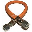 TUYAU FLEXIBLE POUR GAZ (0.4 M) AVEC RACCORD EN OGIVE 8 mm TG 480 -600